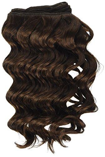 chear Français vague trame Extension de cheveux humains avec de mélange tissage, numéro 4, Taille M, marron foncé 25,4 cm