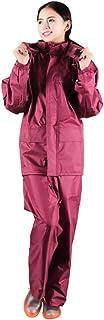 PENGFEI レインコート ポンチョ 防水 アウトドア?ライディング クライミング ダブルフロア バラ赤、 2サイズ (色 : ローズレッド, サイズ さいず : M)