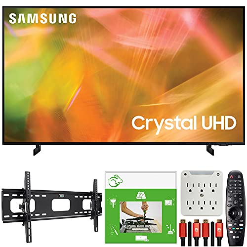 Samsung UN50AU8000 50 Inch UHD 4K Crystal UHD Smart LED TV (2021) Bundle with TaskRabbit Installation...