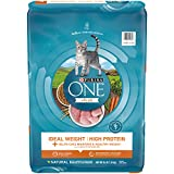 Purina ONE High Protein, Natural Dry Cat Food, Ideal Weight With Turkey - 16 lb. Bag (Packaging may vary)