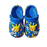 Pickchu Clogs for Kids Garden Cartoon Slide Sandals Anime Slippers Non-Slip Cute Summer Beach Water Shoes Shower Pool (Blue,6,Little Kid,Little_Kid)