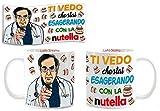 Tazza Mug Personalizzabile dottor Nowzaradan Ti Vedo Che stai esagerando con la Nutella.Spiritosa Dieta, Disegno Idea Regalo con barattoli