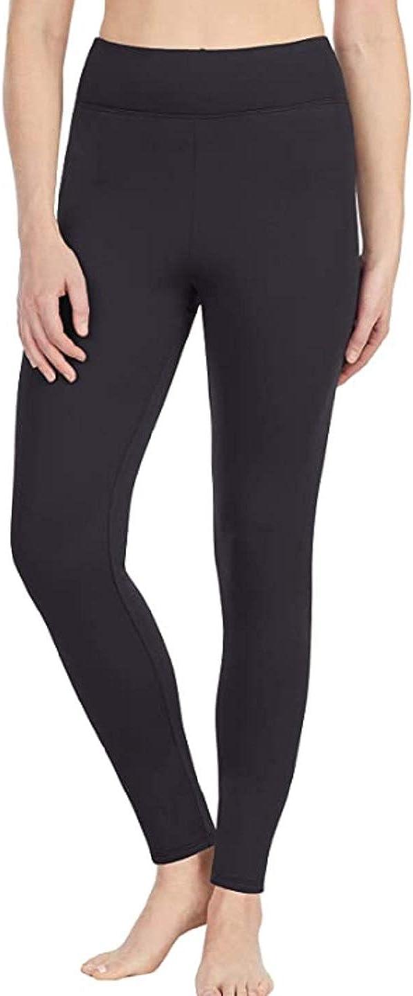 Cuddl Dud Women's Thermal Guard Long Underwear Legging XS Black