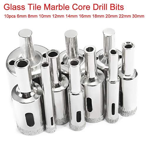 GFHDGTH 6-30mm 10 stks Gatenzaag set, Gereedschap Keramische tegel Glas Gat Boor Diamant Coated Kernboor Bit voor Marmer Glas Snijden