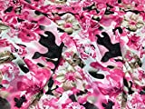 Minerva Crafts Knitter-Chiffon-Stoff, rosa, Meterware