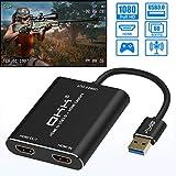 okk HDMI Game Video Capture Card, Device USB 3.0 Adapter Grabber Game Capture
