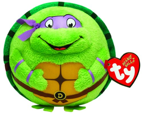TY 7138257 - Teenage Mutant Ninja Turtles Ball - Donatello, Durchmesser 12 cm, Beanie Ballz