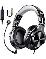 OneOdioA71D ヘッドセット 着脱式 マイク付き テレワーク PC用 Zoom用 web会議用 在宅勤務 有線 ヘッドホン ゲーム用 ボイスチャ スカイプ スイッチ ps4 ps5 Xbox