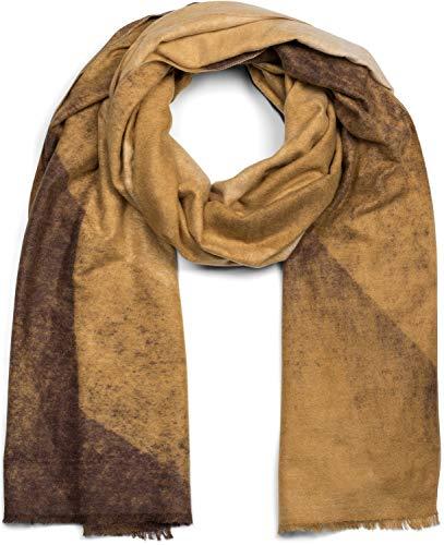 styleBREAKER suave chal de mujer con motivo de gradiente de color geométrico y deshilachados alrededor, invierno, estola, pañuelo 01017115
