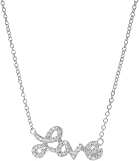 Fronay Co .925 Sterling Silver Bow Pendant and Mini Freshwater Cultured Pearls Necklace