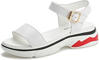 Women's Chunky Ankle Strap Platform Wedges Sneakers Pump Open Peep Toe Buckle Sandals