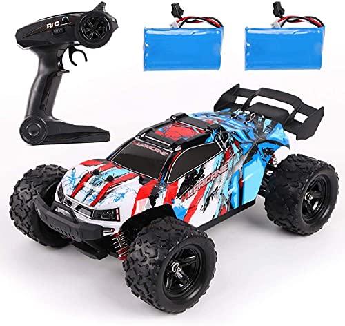 REMOKING RC Auto Spielzeug, 2,4 Ghz 4WD Ferngesteuertes Offroad Auto Spielzeug, High Speed Racing Truck, Geländewagen Geschenk für Kinder Jugendlichen