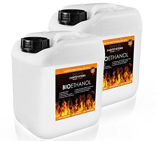 Preisvergleich Produktbild BIO ALKOHOL 100%,  2x 5L - ETHANOL BIOETHANOL für Alkohol-Kamine