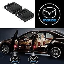 Bearfire 2 Pcs Wireless Car Door Led Welcome Laser Projector Logo Light Ghost Shadow Light Lamp Logos (mazda)