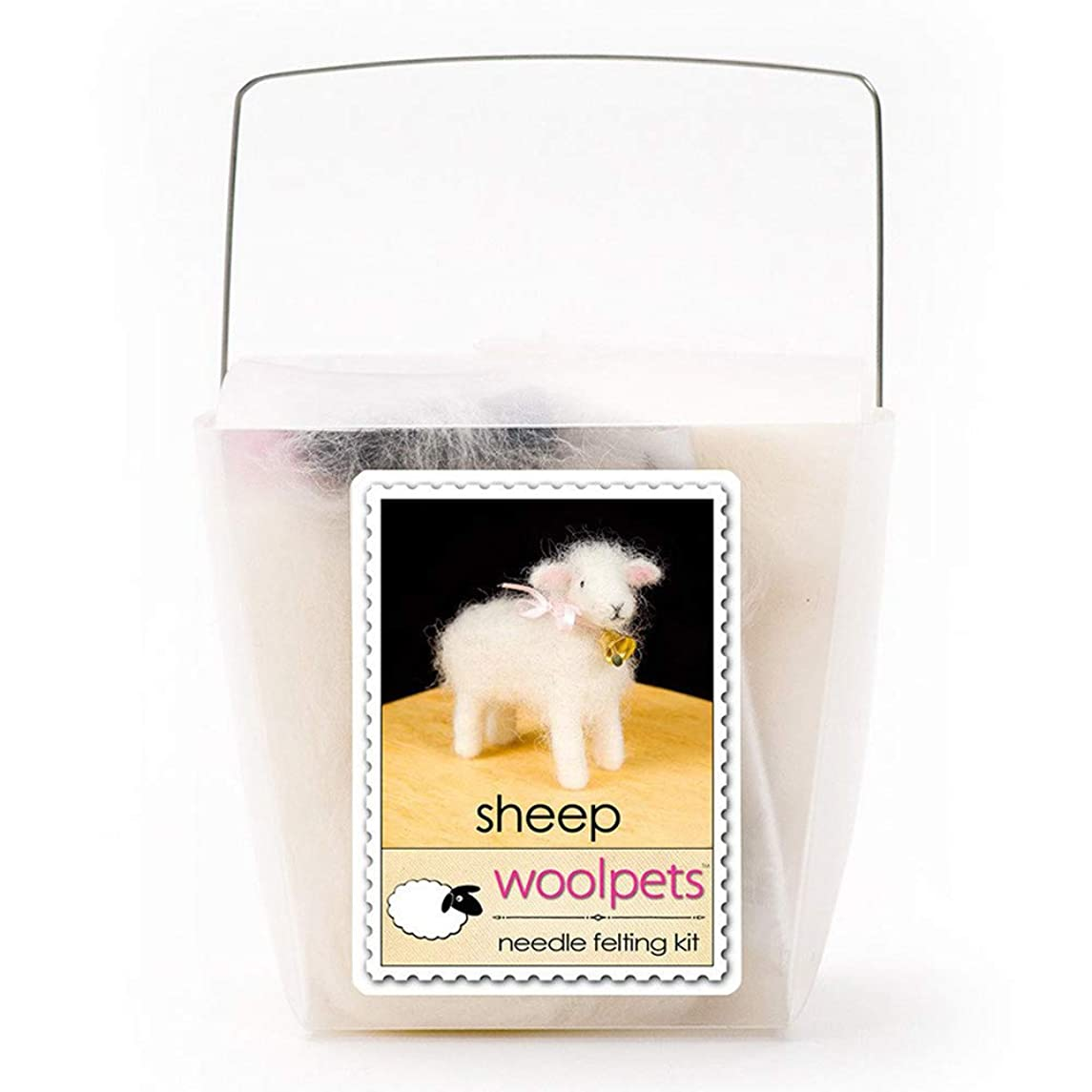 WoolPets Sheep Wool Needle Felting Craft Kit Made in The USA.