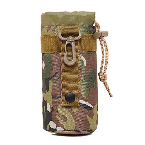 MNAD Bolsa táctica para botella de agua de 19 x 8 cm para bolsa de hervidor de agua, bolsa de hombro (color: CP Camo)