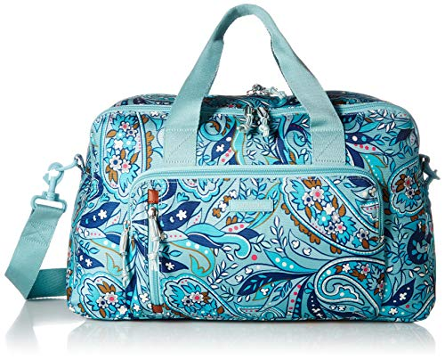 Vera Bradley Women's Lighten Up Compact Weekender Travel Bag, Daisy Paisley