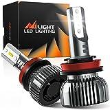 Nilight E1 H11 LED Headlight Bulbs, 350% Brighter, 50W 10000lm Headlamp Bulbs, Mini Size, H9 High Beam, H11 Low Beam, H8 H11 H16 Fog Light, 6000K Cool White, Pack of 2