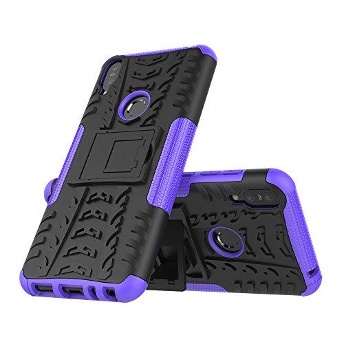 Boleyi Cover per ASUS Zenfone Max PRO (M1) ZB601KL, Robusto TPU/PC Armatura Ibrida, Custodia Protettiva per ASUS Zenfone Max PRO (M1) ZB601KL Bumper Case Antiurto Cover -Porpora