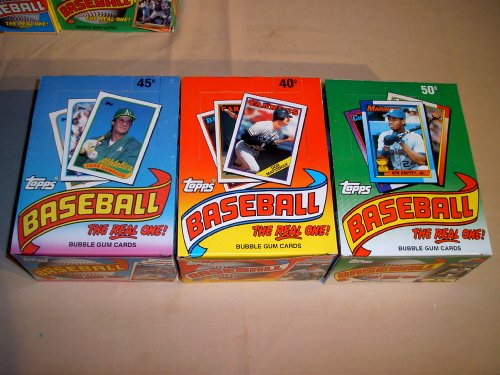 1988 1989 1990 Topps Baseball Boxes. 3 Box Lot. 108 Packs. Your chance to find great rookie cards of players like: Tom Glavine, Randy Johnson, Frank Thomas and Super Stars like Mike Schmidt, Don Mattingly, Nolan Ryan, Cal Ripken Jr, Roger Clemens, Pete Rose and many many more!