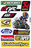 Sponsors Taper Hoja Racing Decal Sticker Tuning Racing Tamaño: 27 x 18 cm para el coche o la moto