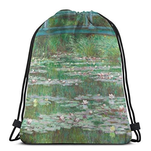 Bolsa de viaje con cordón de color azul marino japonés, 1 bolsa de regalo