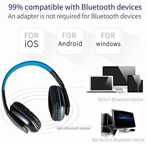 Kotion Each b3506- Cuffie gaming Bluetooth wireless pieghevoli V4.1con microfono per PS4PC MAC smartphone computer