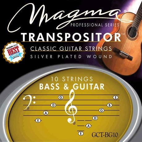 Magma Classical Guitar Recommended Strings Max 64% OFF TRANSPOSITOR Silv BASS - GUITAR