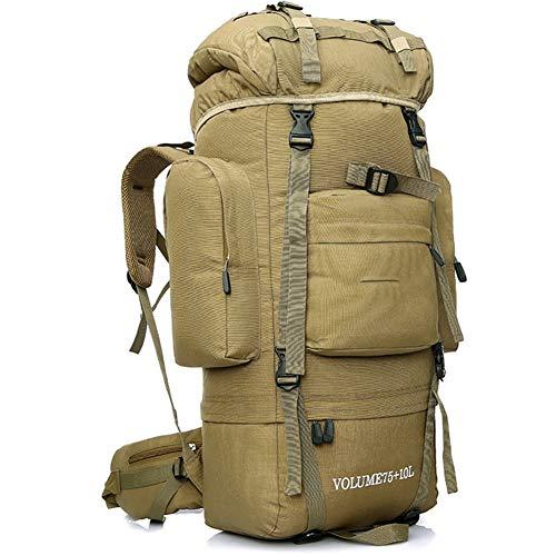 Cestbon 85L Interner Rahmen Rucksack Wanderrucksack Für Das Wandern, Camping, Reise & Backpacking - Großer Rucksack Für Männer Und Frauen,Braun