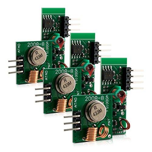 kwmobile 3X Module Radio émetteur récepteur 433 MHz pour Arduino et Raspberry Pi - Wireless Transmitter Module