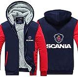 XTT Chaqueta con capucha para hombre SCANIA N7 Print Casual...