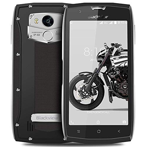 Blackview BV7000 Pro - Smartphone Resistentes (4GB + 64GB Móvil Antigolpes, Dual SIM, Android 7.0, 8MP/13MP Cámara, 5.0 FHD Pantalla, 3500mAh Batería Rugged Móvil) Regalo de Navidad - Plata