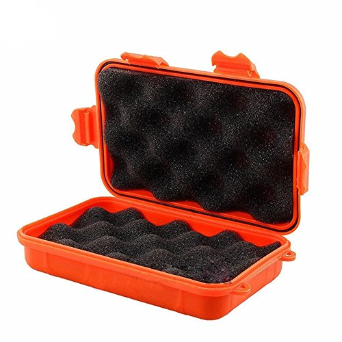 BaoST Outdoor Camping Tactical Dry Box Container Shockproof Waterproof Gear Tool Storage Box (Orange)