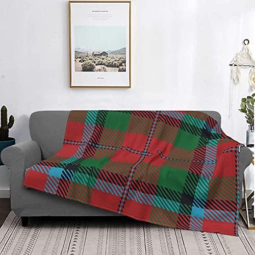 Manta Mantas de Microfibra Ultra Suave, Escocia Escocesa Clan Macnachtan Tartan Plaid Macnaughton, Manta Suave y Ligera para Cama, sofá, Sala de Estar, 60 'x 80'