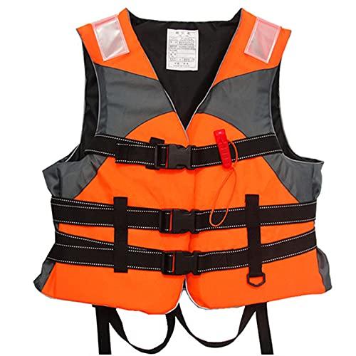 Haihui Chaleco salvavidas para niños y adultos, chaleco salvavidas para niños pequeños, niños, adultos, mujeres y hombres, color naranja