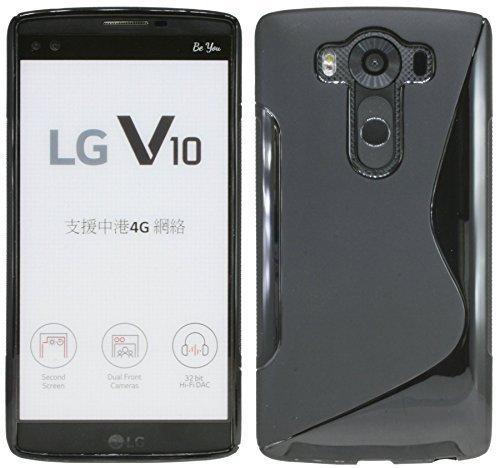 ENERGMiX S-Line TPU SchutzHülle für LG V10 (H961N) Silikon Hülle in Schwarz