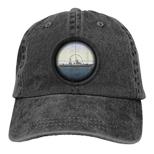 U-Boot Periskop Cap Baseballmütze verstellbar schwarz