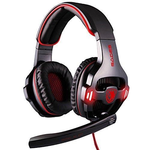 AGPTEK ArcEnCiel® G40003,5mm Auriculares estéreo Gaming Headset Led Banda Reducción del Ruido con Control de Volumen y micrófono para PC Computer Game