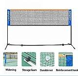 SICONG Filet de Badminton Portable Portable Pliable réglable, Filet de Volleyball intérieur et extérieur avec Sac de Rangement Configuration Facile Filet de Sport en Nylon