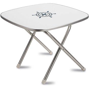Plateau en m/élamine 44x88 cm Pour usag contour en aluminium FORMA table pliante Marathon en aluminium anodise /Ø 25mm 61cm hauteur /étanch/éit/é imperm/éable /à leau; pieds de tables anti-d/érapants.