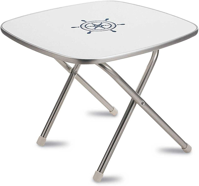 FORMA MARINE Deck Table, Boat Table, Folding, Square, Aluminium, Model M350