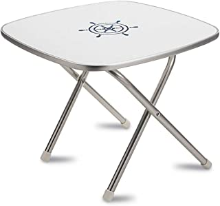 FORMA MARINE Deck Table 24' x 24' x 19'3, Boat Table, Folding, Square, Aluminium, Model M350
