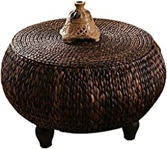 Selected Furniture/Living Room Coffee Table Rattan Wood Coffee Table Retro Window Table Round Coffee Table Simple Tatami T...