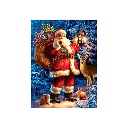 Gemini _ Mall® Père Noël DIY 5d Diamant de Strass Collez-le Broderie Peinture kit de point de croix de Noël Home Decor (Santa Claus # 3)