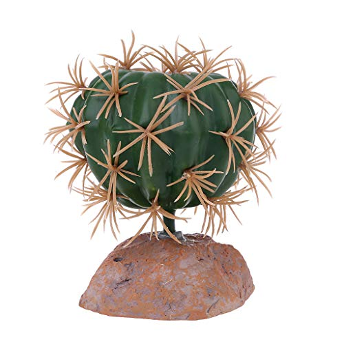Zuanty Reptiles Hábitat Planta de terrario de plástico Verde para Anfibios, decoración para el hogar y el jardín, Verde, 1