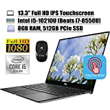 2020 Newest Dell XPS 13 7390 Laptop 13.3' Full HD IPS Touchscreen 10th Gen Intel Quad-Core i5-10210U (Beats i7-8550U) 8GB DDR4 512GB PCIe SSD Backlit KB FP MaxxAudio Win 10 + iCarp Wireless Mouse
