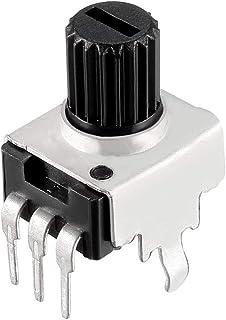 uxcell Carbon Film Potentiometer, 10K Ohm Variable Resistors Single Turn Rotary 10pcs
