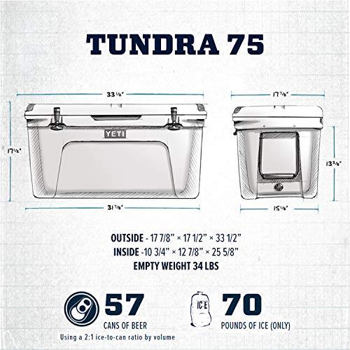 YETI Tundra 75 Cooler, Desert Tan