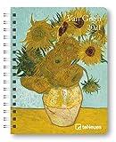 van Gogh - Buchkalender Deluxe 2021 - Kalenderbuch A5 - Taschenkalender - teNeues-Verlag - Taschenplaner mit Spiralbindung - 17 cm x 22 cm - Kunstkalender