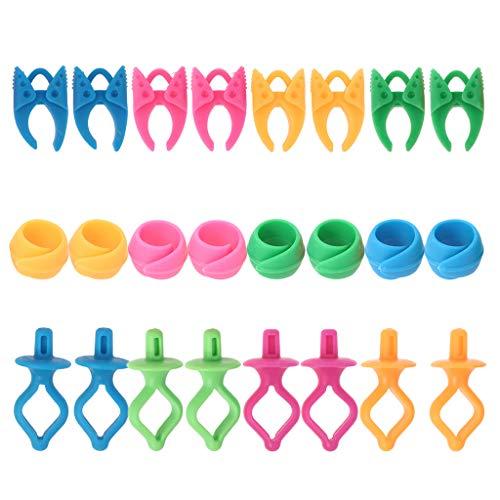 Juego de 24 clips para bobinas de coser, soportes para bobinas de hilo para bordado, colchas, evita que las colas de hilo se desenrollen.